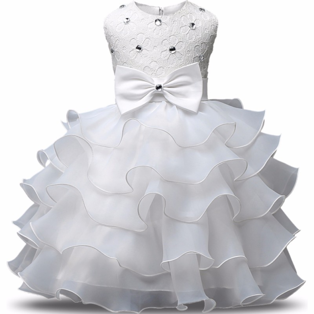 Romantic Girl's Ruffle Skirt Dress
