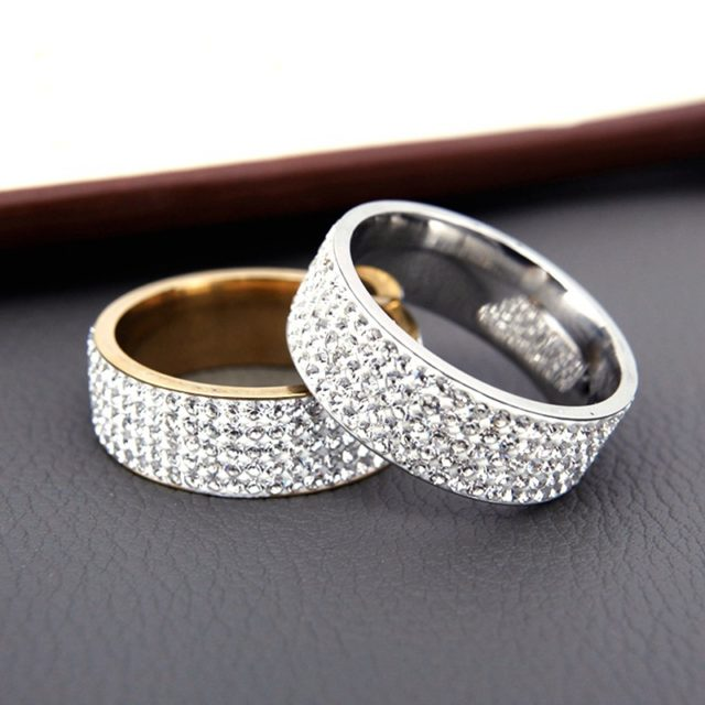 Crystal Engagement Ring for Bride