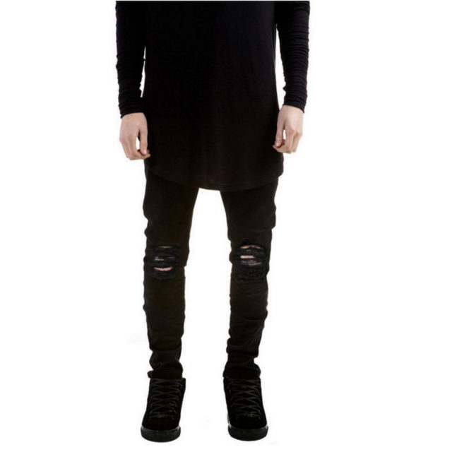 Men's Stylish Black Ripped Jeans