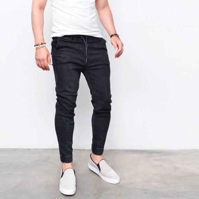 Men's Harem Washed Jeans