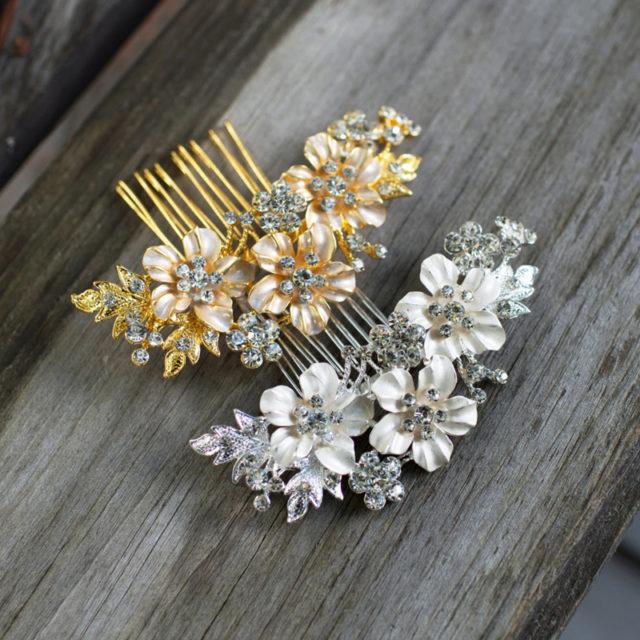 Plum Flower Bridal Hair Comb