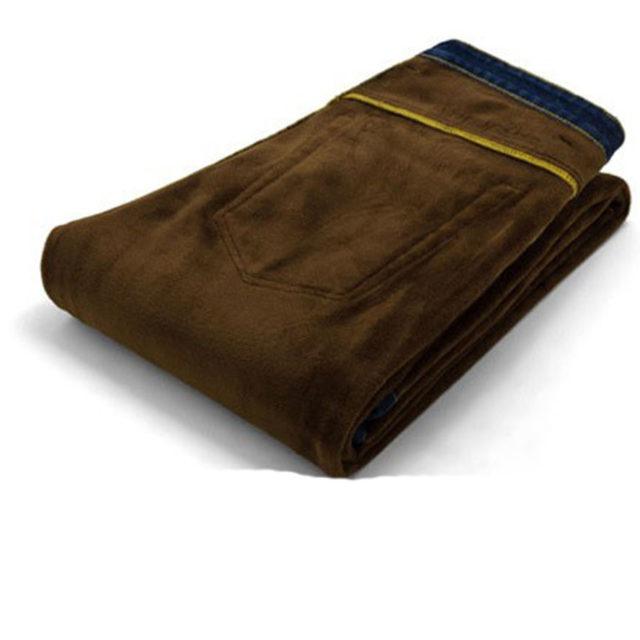 Men's Slim Fit Warm Jeans