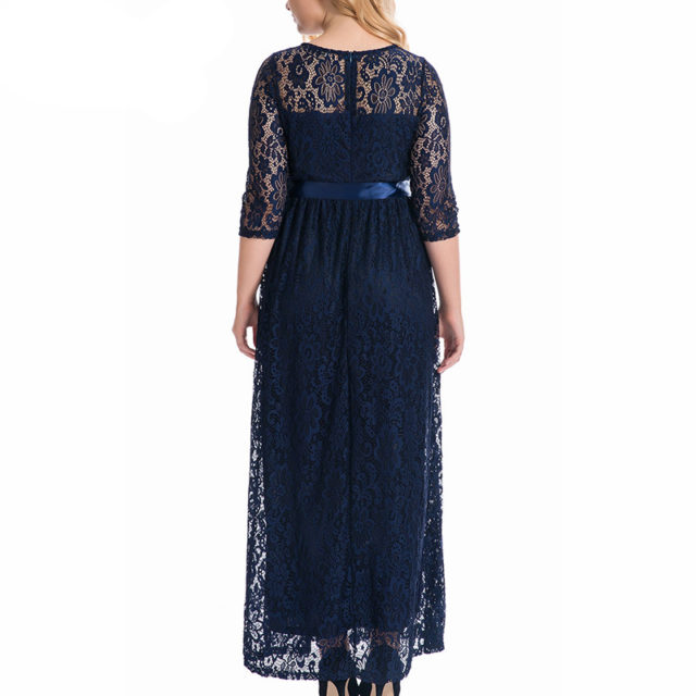 Women's Plus Size Lace Maxi Dress