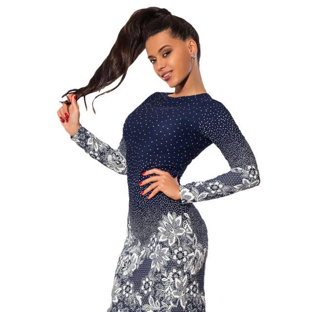 Autumn O-Neck Long Sleeve Bodycon Party Dress