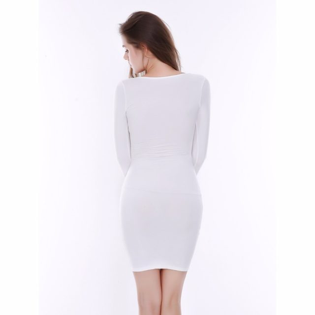 Exquisite Criss-Cross Long-Sleeved Bodycon Women's Dress
