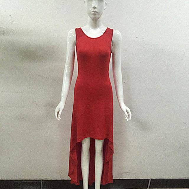 Women's Sleeveless Asymmetric Dress