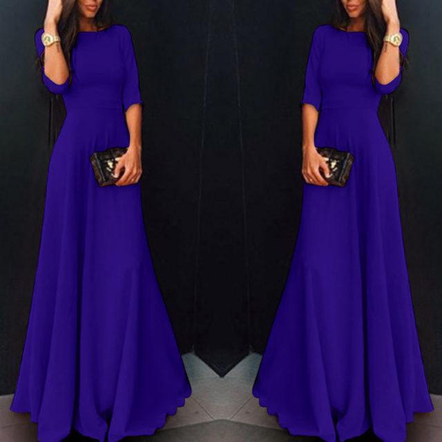 Women's Long Chiffon Evening Dress