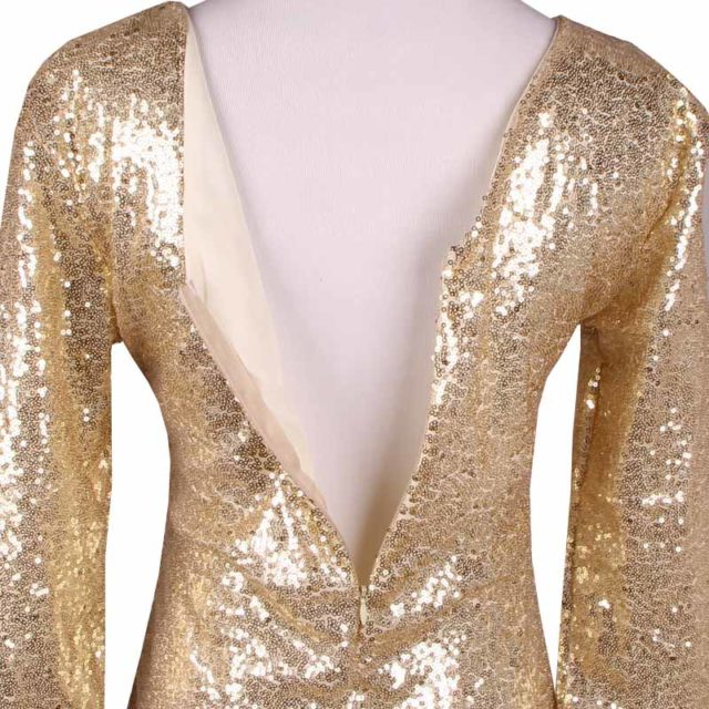Backless Glittery Bodycon Party Dress
