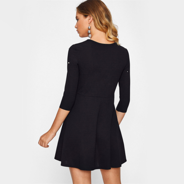 Women's Beaded Mid A Line Dress