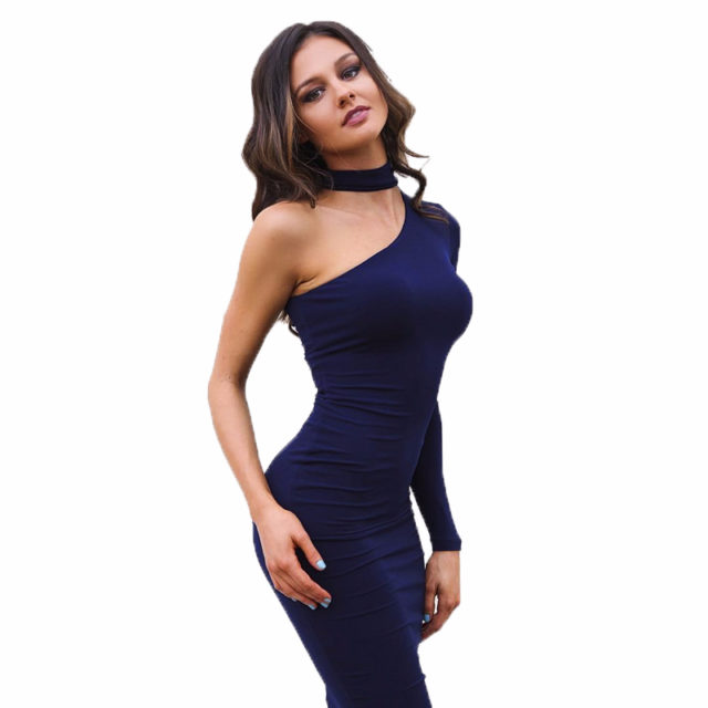 Women's Elegant One Shoulder Dress