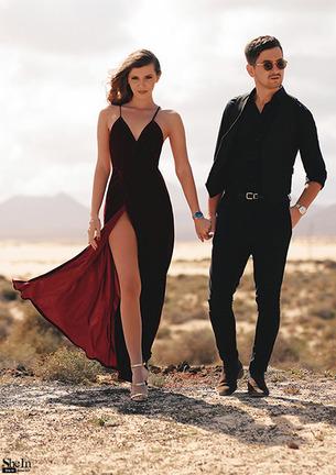 Women's Velvet Maxi Backless Dress