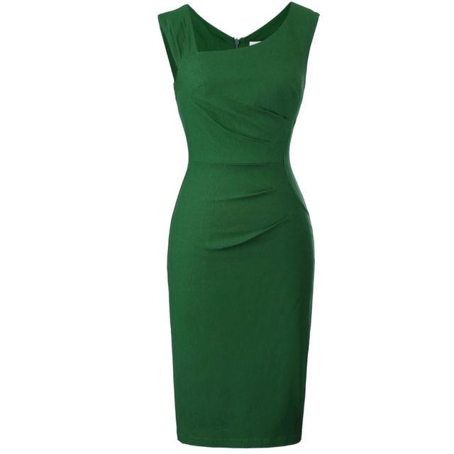 Women's Vintage Sleeveless Bodycon Dress