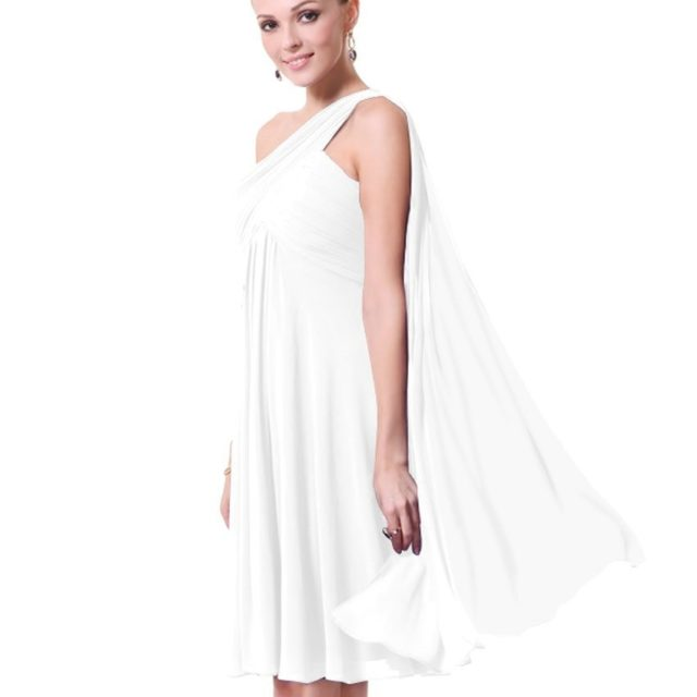 Women's One-Shoulder Chiffon Cocktail Dress