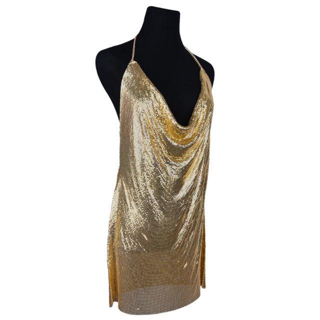 Women's Glittery Mini Dress