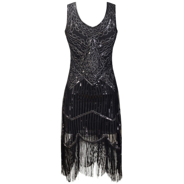 Vintage Embroidered Cocktail Dress with Tassel