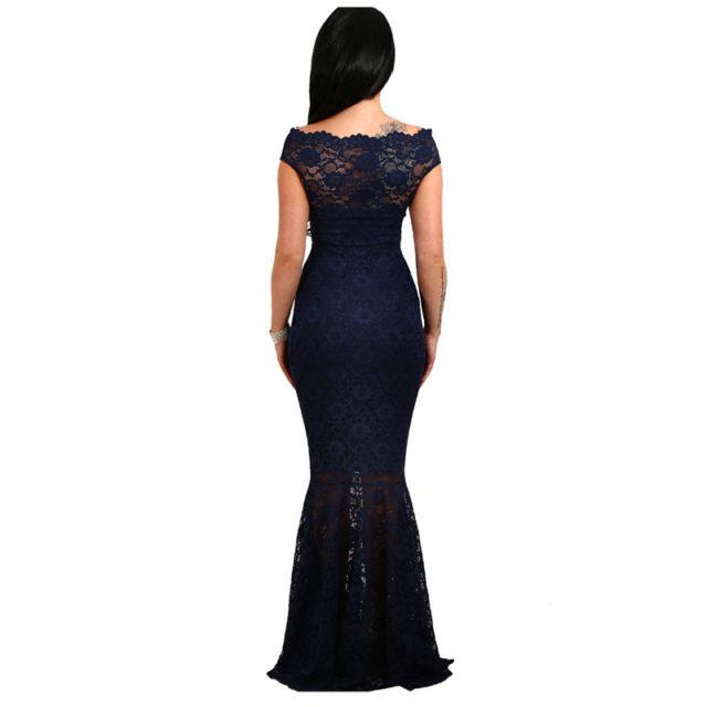 Women's Lace Off Shoulder Mermaid Dress