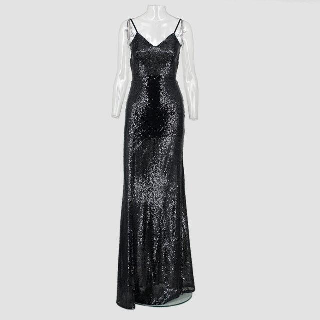 Women's Backless Cami Maxi Dress