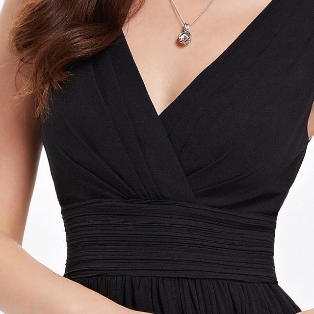 Elegant Chiffon Cocktail V-Neck Dress
