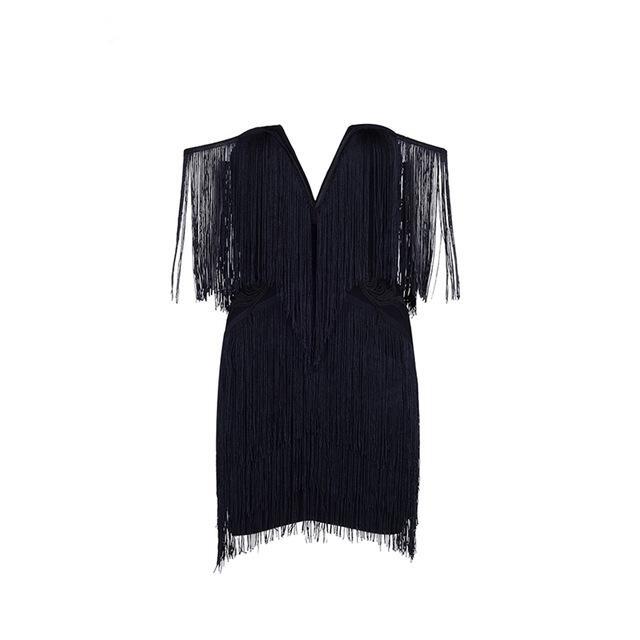 Elegant Mini Fringe Dress