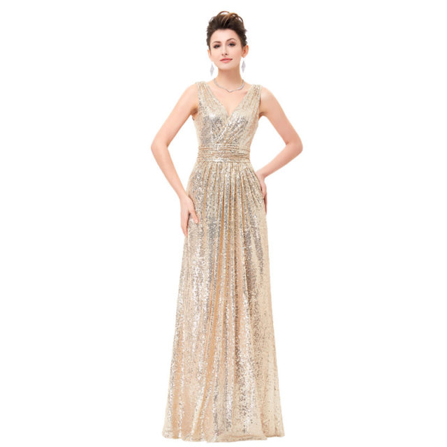 Women's Maxi Glittery Dress