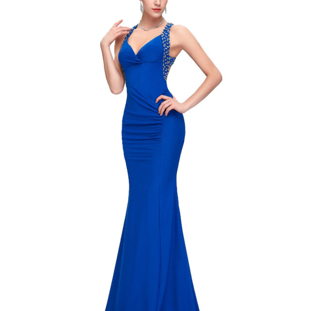 Evening Backless Bodycon Long Mermaid Dress