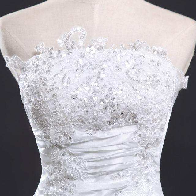 Elegant Vintage Long Lace Wedding Dress