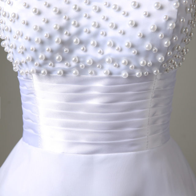 White/Ivory Short Wedding Dress