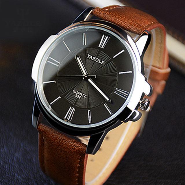 Glass Dual Elegant Men's Quartz Watch