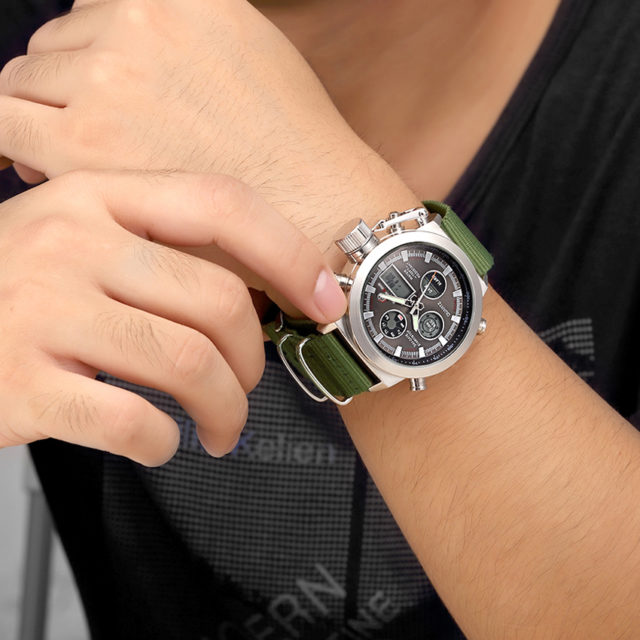 Fashion Military Dual Display Watches for Men