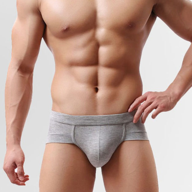 Comfortable Casual Breathable Cotton Men's Briefs