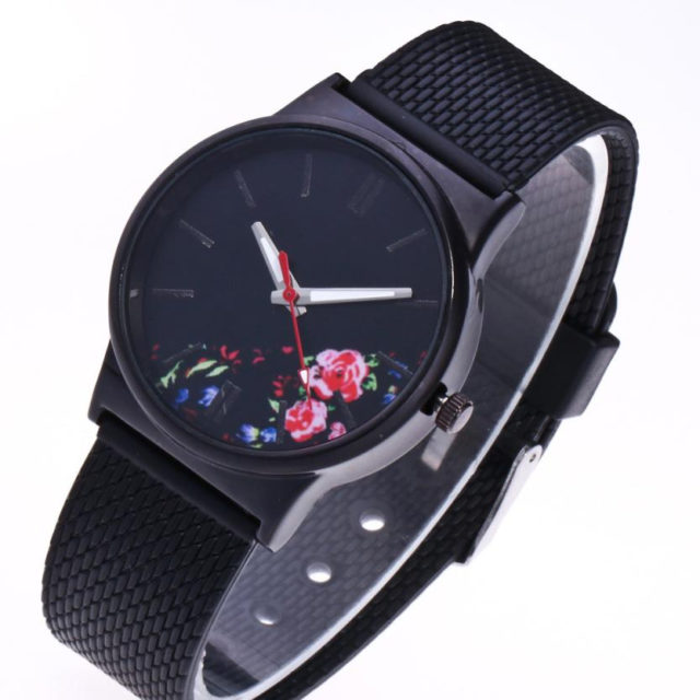 Women's Floral Dial Quartz Watches
