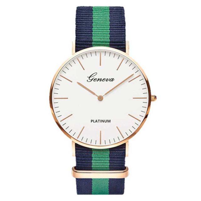 Women's Striped Textile Watch