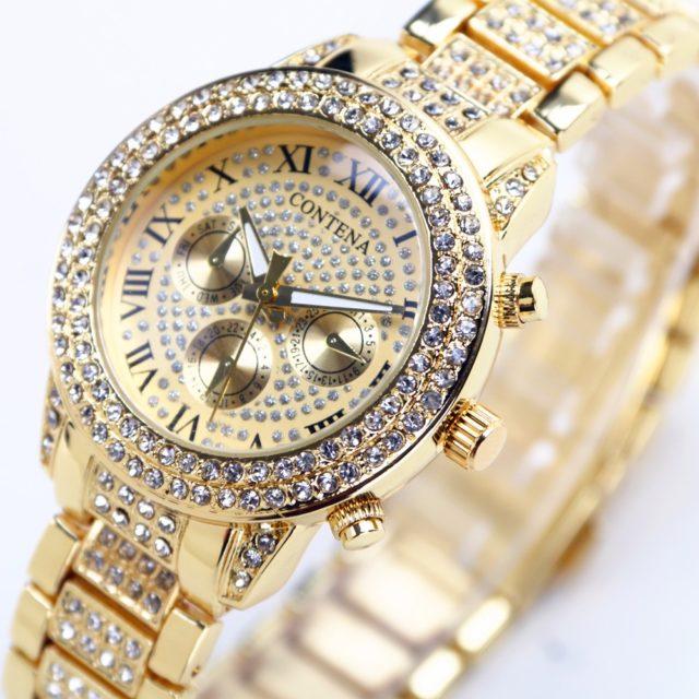 Women's Luxury Watch with Rhinestones