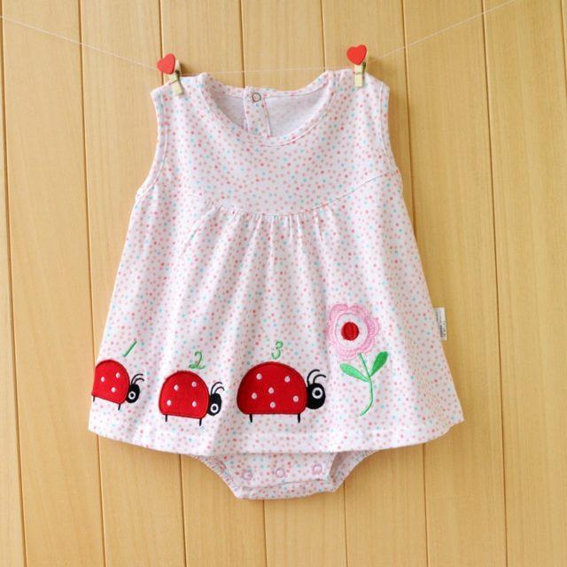 Baby Girl's Breathable Cotton Bodysuit
