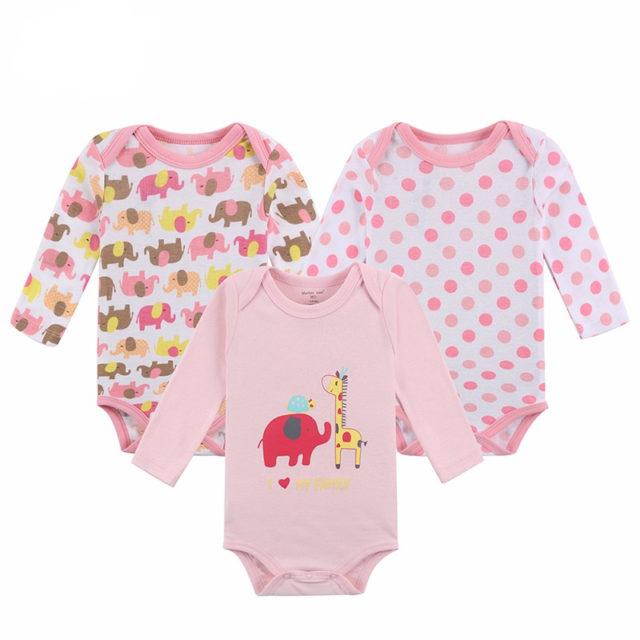 Baby Girl's Cotton Long Sleeve Bodysuit