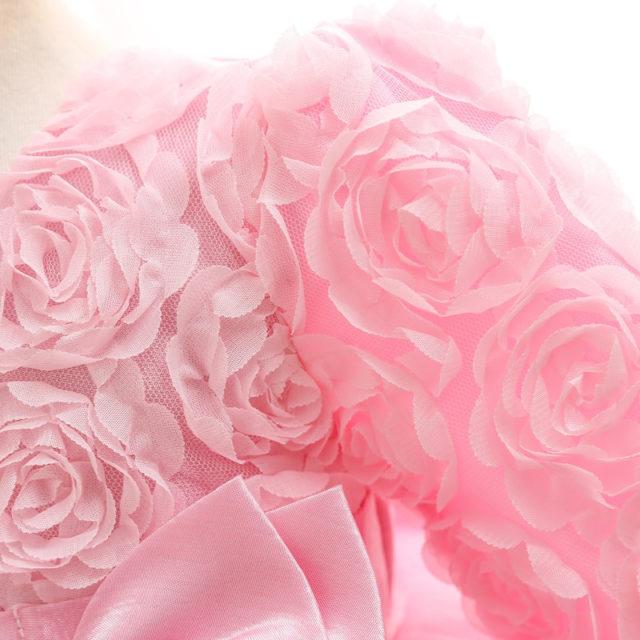Baby Girl's Elegant Bow Embellished Dress