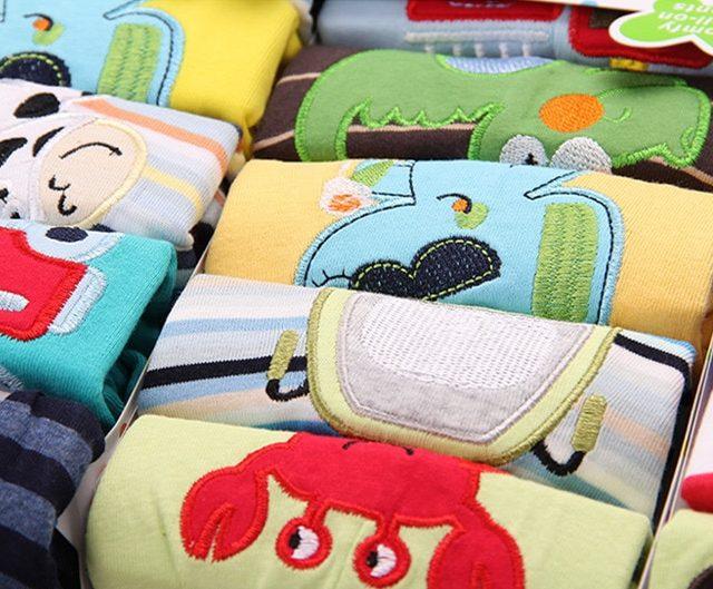 Casual Elastic Waist Cotton Pants for Babies