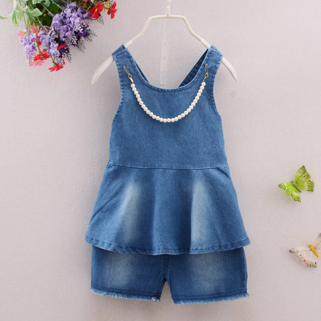 Baby Girl's Denim Clothing Set