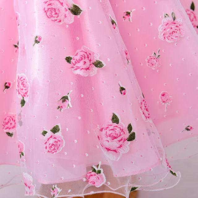 Girl's Floral Printed Dress