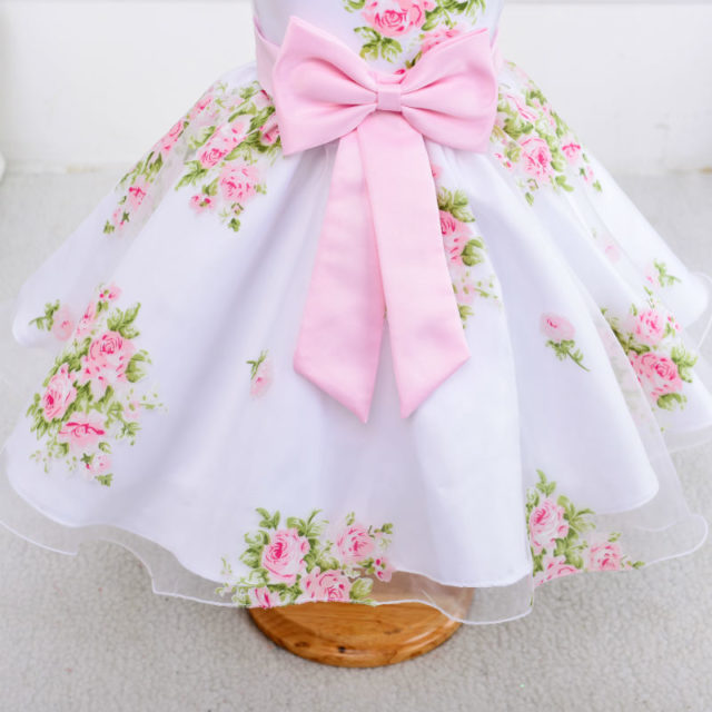 Girl's Summer Party O-Neck Dresses