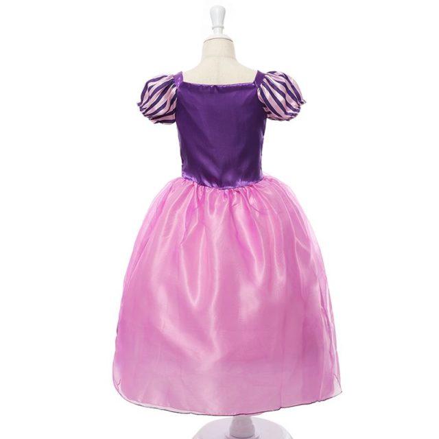 Beautiful Girl`s Satin Princess Dress