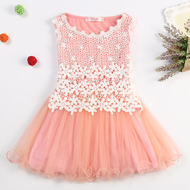 Pretty Girl`s Floral Ruffles Dress