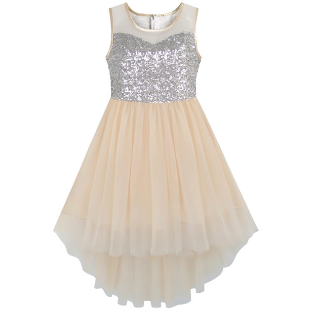 Fashion Sequined Tulle Princess Dresses