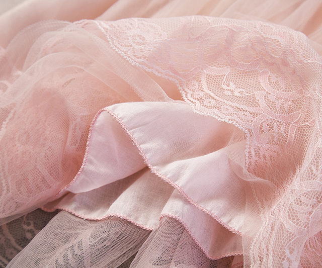 Cute Girl`s Floral Lace Princess Dress