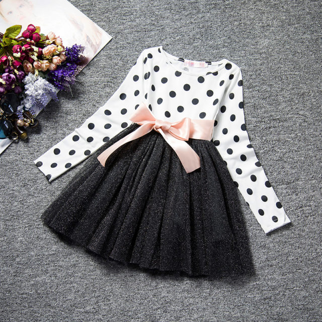 Girl's Party Long Sleeve Dresses