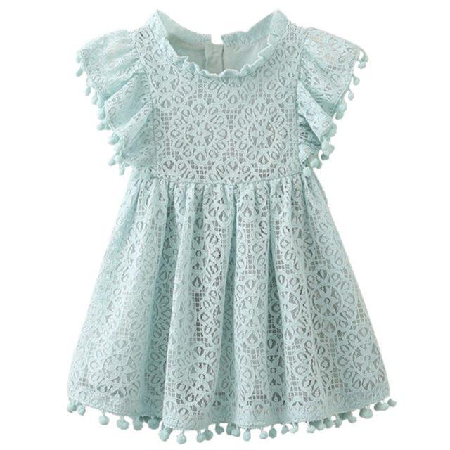 Girl's Flare Sleeved Patterned Dress
