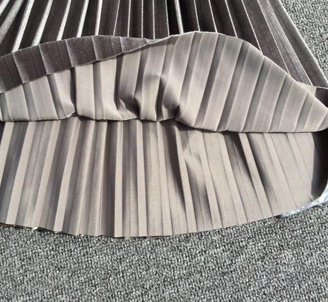 Girl's Velvet Pleated Skirt
