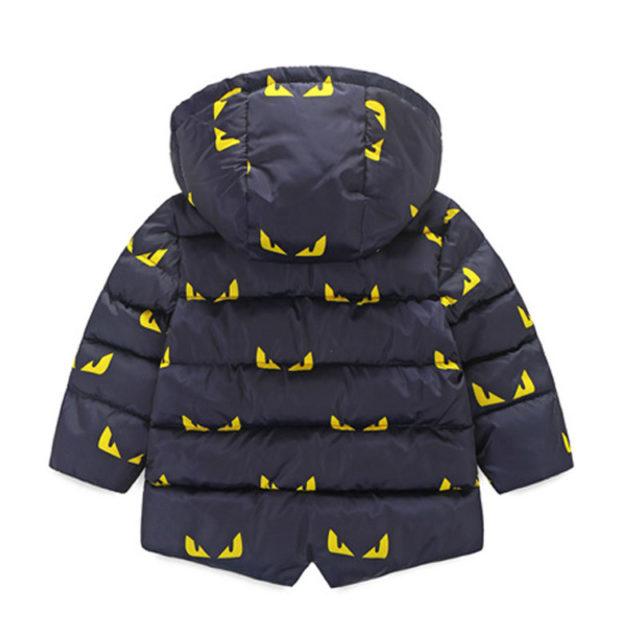 Waterproof Kids's Hooded Printed Jacket