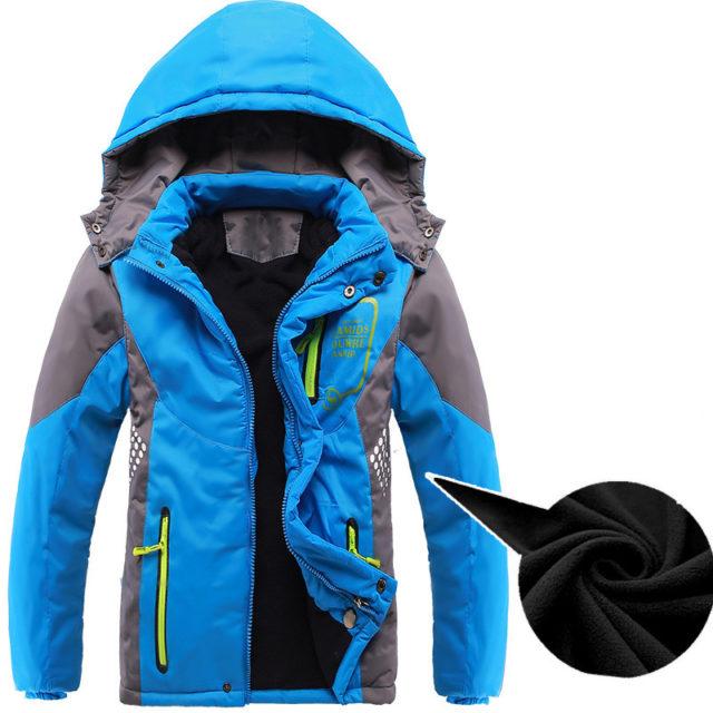 Boy's Warm Waterproof Windproof Coat