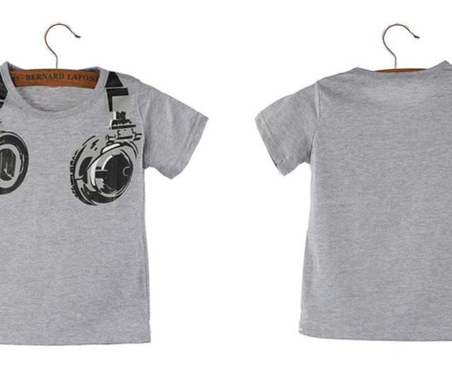 Groovy Boy's Headphones Patttern Cotton T-Shirt